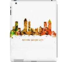 Watercolour art print of the skyline of Atlanta Georgia USA iPad Case/Skin