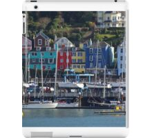 Yachts and colourful houses at Dartmouth Devon iPad Case/Skin