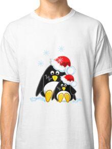 Cute Penguins Christmas Tee Classic T-Shirt