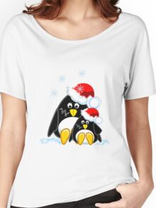 Cute Penguins Christmas Tee Women's Relaxed Fit T-Shirt