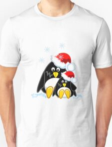 Cute Penguins Christmas Tee T-Shirt