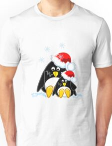 Cute Penguins Christmas Tee Unisex T-Shirt