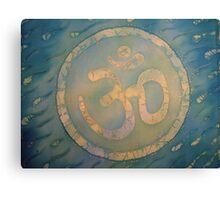 Celtic Om on Silk Canvas Print