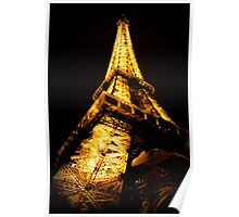 Eiffel Tower by Night 2 Poster