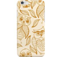 Four different brown owls iPhone Case/Skin