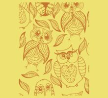 Four different brown owls One Piece - Short Sleeve