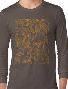 Four different brown owls Long Sleeve T-Shirt