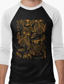 Four different brown owls Men's Baseball ¾ T-Shirt