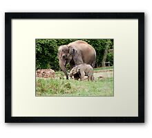 Mum and 1 Year old Baby Framed Print