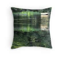The Diving Dock Throw Pillow