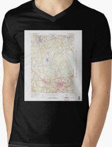 Massachusetts  USGS Historical Topo Map MA Bridgewater 350879 1977 25000 Mens V-Neck T-Shirt