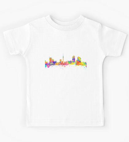 Auckland New Zealand Skyline Kids Tee