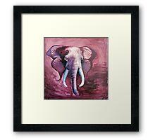 Blended Strength- Elephant Painting Framed Print