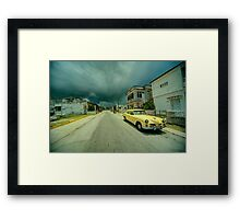 Yellow storm car  Framed Print