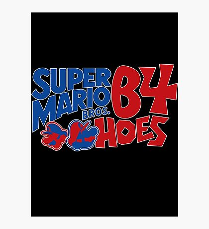 Super Mario Bros Before Hoes Photographic Print