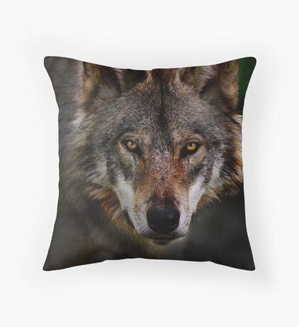 Timber Wolf Throw Pillow