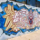 Skate Park mural by Ali Brown