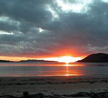 Christmas Sunset, Tralee Bay, Benderloch by Stephen Eccles