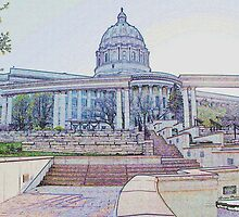 Capitol Building, Jefferson City, Missouri ~ by Brion Marcum