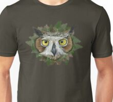 Great Horned Owl in Forest Unisex T-Shirt