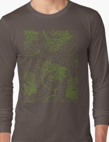 Green dill hand drawn illustration  Long Sleeve T-Shirt