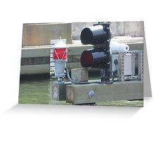 Boat Traffic light signal Greeting Card