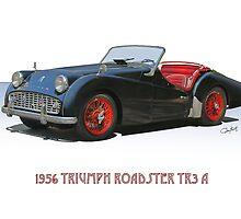 1956 Triumph TR3 A by DaveKoontz