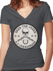 Heed The Creed! Women's Fitted V-Neck T-Shirt