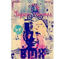 Superheroes of BMX Photographic Print