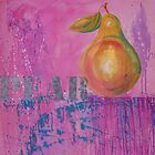 A pink pear by Cath Sheard