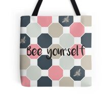 Bee yourself honeycomb  Tote Bag
