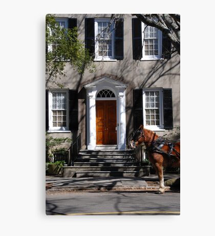 Beautiful House on Meeting Street in Charleston Canvas Print