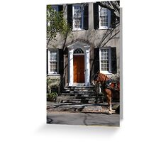 Beautiful House on Meeting Street in Charleston Greeting Card