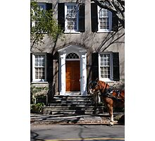 Beautiful House on Meeting Street in Charleston Photographic Print