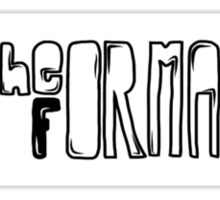 The Format Sticker