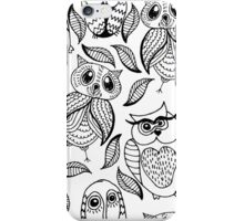 Four different black owls iPhone Case/Skin