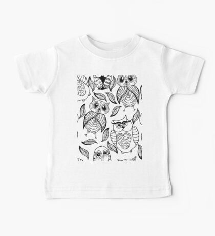 Four different black owls Baby Tee