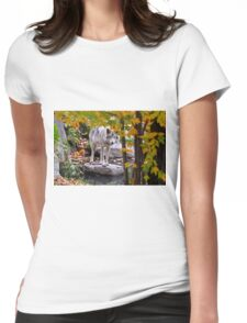 Timber Wolf by Pond Womens Fitted T-Shirt