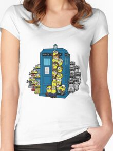 Behind You Doc Minion Women's Fitted Scoop T-Shirt