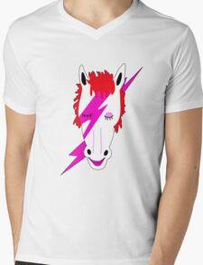 David Pony Mens V-Neck T-Shirt