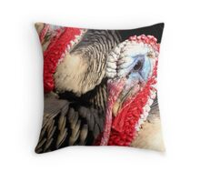 Narragansett Turkeys Throw Pillow