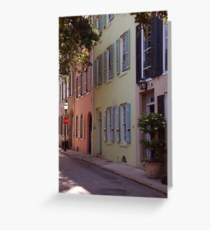 Pretty Lane in Charleston Greeting Card