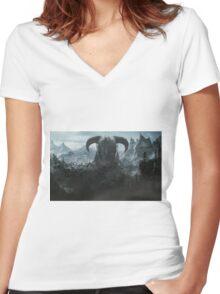 Skyrim - Nord Women's Fitted V-Neck T-Shirt