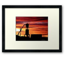 Farm Sunset Framed Print