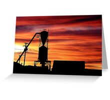 Farm Sunset Greeting Card