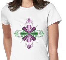 Floral Fractal Womens Fitted T-Shirt