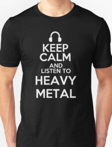 Keep calm and listen to Heavy metal T-Shirt