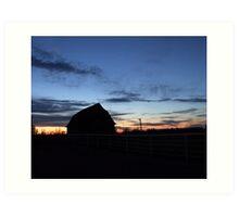 Sunset Barn Art Print