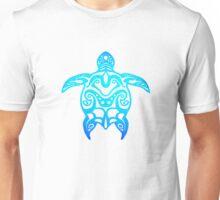 Ocean Blue Tribal Turtle Unisex T-Shirt