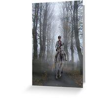 Lone horsewoman Greeting Card